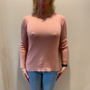 Blush/pink sweater with sparkles, size small